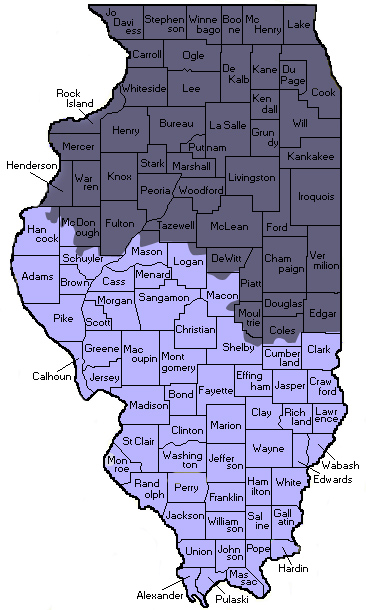 illinois map area covered by kinstler & associates